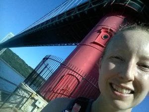 Little red lighthouse under the George Washington Bridge.